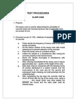 Test Procedures of Concrete