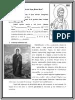 Lecție Sf. Dimitrie Basarabov clasa a III-a