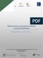 Dimensiunea Antreprenoriatului Rural Din Romania - Studiu de Politici Publice