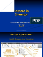 Initiere in Inventor - Curs 15.pps