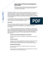Lessons Learned Analysis Employee Performance Management & Individual Development Planning