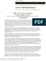 WHO 'Swine Flu Pope' under _ by F. William Engdahl. FSO Editorial 12_08_2009