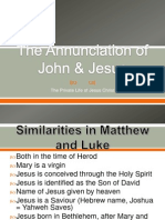 the annunciations of john and jesus