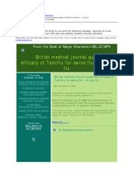 British medical journal questions efficacy of Tamiflu for swine flu - or any flu