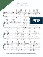 True colours sheet music