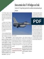 Première intervention armée des F-16 belges en Irak