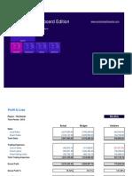 Excel Workbook - For Bullet and Gauge Charts