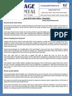 August 2014 Auto Sales Summary