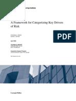 A Framework for Categorizing Key Drivers of Risk