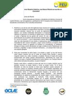 Declaración Internacional - IV Congreso de la FEU Colombia