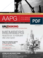AAPG 2010 Annual Convention & Exhibition Technical Program & Registration Announcement