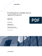 Evaluating Process Quality from an Appraisal Perspective