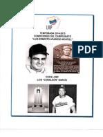 Condiciones de Campeonato Temporada 2014-2015 LVBP