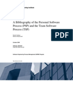 A Bibliography of the Personal Software Process (PSP) and the Team Software Process (TSP)