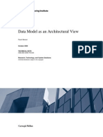 Data Model as an Architectural View