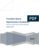 Teradata Query Optimization Guidelines