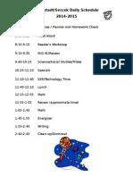 Daily Schedule-Mahlstadt Svrcek
