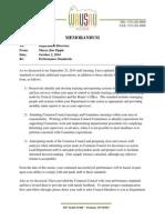 Wausau Mayor Jim Tipple's Oct. 2 memo to department heads