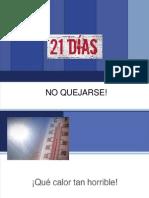 NO-QUEJARSE-x-21-DIAS.pps