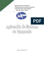 aplicacion de modelos en veezuela.doc