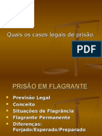 Flagrante - Direito aplicado a atividade policial militar.ppt