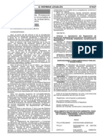 rEGLAMENTO DE PROTECCION AMBIENTAL PARA PROYECTOS CINCULADOS A LAS ACTIVIDADES DE IVIVENDA, URBANISMO, CIONSTRUCCION Y SANEAMIENTO.pdf