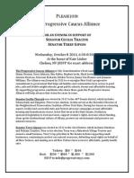 Progressive Caucus Alliance Fundraiser Invite