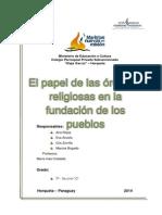 El papel de las órdenes religiosas en la fundación de pueblos.docx