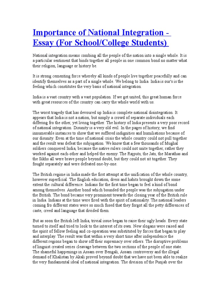 Samples Of Persuasive Essays For High School Students Essay On National Integrity Of India Nitasweb Essay On Health Promotion also Easy Essay Topics For High School Students Please Write My Essay For Money Write My Papers Request Is Esay To  Essay Learning English