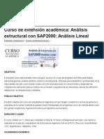 Curso de Extensión Académica_ Análisis Estructural Con SAP2000_ Análisis Lineal __ Ingenieria Civil