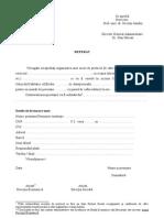 Model REFERAT Pentru Organizare Masa de Protocol