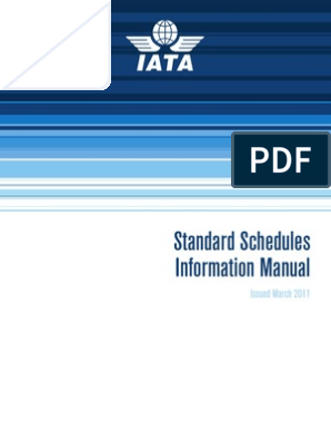 SSIM Manual - March 2011 | Airport | Airlines