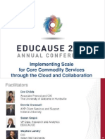 Implementing Scale for Core Commodity Services through the Cloud and Collaboration (242323621)