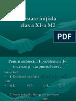 test initial matematica M2