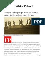 Fiddling While Kobani Burns