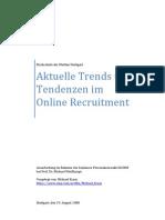 Personalauswahl - Aktuelle Trends Und Tendenzen Im Online Recruitment