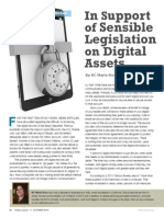 In Support of Sensible Legislation on Digital Assets