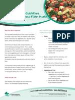 FACTSHEET Guidelines for Increasing Fibre Intake