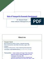 Role of Transport in Economic Development