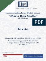 Premio Nazionale sui Diritti Umani 2014