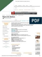 Tipos de sílabas. Clasificación de las silabas. About.pdf