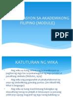 Komunikasyon Sa Akademikong Filipino