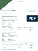 student detail schedule