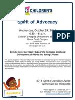 CHOR at VCU Annual Spirit of Advocacy Flyer