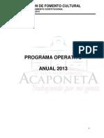 Plan Operativo Anual de Fomento Cultural