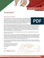 Wisco 3Q 2014 Newsletter