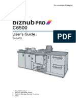 Bizhub PRO C6500 Security User Guide