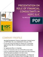 Presentation on Role of Financial Consultants in Hdfc.....