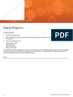Angliss Degree Form