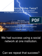 Can Lightning Strike Twice? Choosing and Implementing a Social Network for Interdepartmental Collaboration at Two Universities (242348307)